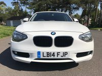 USED 2014 14 BMW 1 SERIES 1.6 114D SE 5d 94 BHP 1 OWNER CAR WITH FSH 5 DOOR IN WHITE