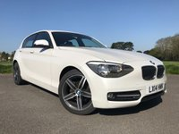 USED 2014 14 BMW 1 SERIES 2.0 116D SPORT 5d 114 BHP ONE OWNER SPORT IN WHITE WITH FSH ONLY £0 TAX AND GREAT FUEL ECONOMY