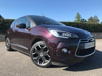 USED 2015 64 CITROEN DS3 CABRIO 1.6 BLUEHDI DSPORT 3d 120 BHP LOVELY CONVERTIBLE DS3 WITH 17K FSH £30 TAX AND VERY ECONOMICAL TO RUN