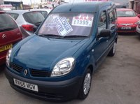 USED 2005 RENAULT KANGOO Kangoo wheelchair adapted 1.2 Great value, 56000 miles, wheelchair adapted.
