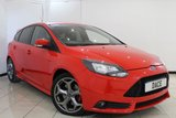 USED 2014 14 FORD FOCUS 2.0 ST-2 5DR 247 BHP SERVICE HISTORY + HALF LEATHER SEATS + BLUETOOTH + PARKING SENSOR + CLIMATE CONTROL + MULTI FUNCTION WHEEL + AUXILIARY PORT + 18 INCH ALLOY WHEELS