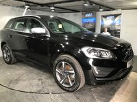 USED 2016 16 VOLVO XC60 2.4 D4 R-DESIGN LUX NAV AWD 5d 187 BHP Bluetooth : Satellite Navigation        :        DAB Radio        :        Wi-Fi        :        Electric driver's seat       : R-Design steering wheel   :   R-Design leather upholstery   :   Remotely operated tailgate : Rear parking sensors   :   Fully stamped service history