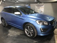 USED 2015 15 VOLVO XC60 2.0 D4 R-DESIGN LUX NAV 5d AUTO 178 BHP Bluetooth : Satellite Navigation  :  DAB Radio  :  Wi-Fi  :  R-Design steering wheel / leather upholstery : Heated front seats : Electric driver's seat : Heated front screen : Remotely operated tailgate : Rear parking sensors   :   Full Volvo main dealer service history