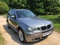 2007 BMW X3 2.0 D M SPORT 5d 148 BHP £6890.00