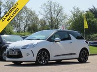 USED 2014 14 CITROEN DS3 1.6 E-HDI AIRDREAM DSPORT PLUS 3d 111 BHP FULL LEATHER INTERIOR, OPTICAL REAR PARKING SENSORS