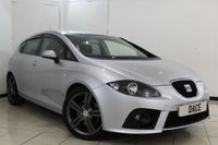 USED 2007 07 SEAT LEON 2.0 FR TFSI 5DR 198 BHP FULL SERVICE HISTORY + BLUETOOTH + MULTI FUNCTION WHEEL + CLIMATE CONTROL + AUXILIARY PORT + 17 INCH ALLOY WHEELS