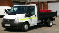 2013 FORD TRANSIT 2.2 350 DRW 1d 99 BHP  MWB TIPPER 1 OWNER F/S/H  2 KEYS \  FREE 12 MONTHS WARRANTY COVER  £9490.00