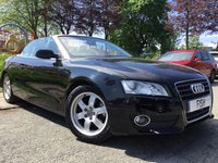 USED 2010 AUDI A5 CABRIOLET 2.0 TDI 2d 168BHP 2KEYS+FSH7STAMPS+1FORM KEEPER+