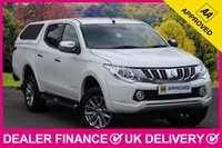 USED 2017 66 MITSUBISHI L200 2.4 DI-D WARRIOR AUTOMATIC HARDTOP CANOPY SAT NAV LEATHER SAT NAV LEATHER HARD TOP CANOPY REVERSE CAMERA 4X4