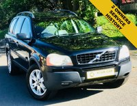 USED 2004 04 VOLVO XC90 2.4 D5 SE 5d AUTO 161 BHP ANY INSPECTION WELCOME ---- ALWAYS SERVICED ON TIME EVERY TIME AND SERVICED MAINLY BY SAME DEALERSHIP THROUGHOUT ITS LIFE,NO EXPENSE SPARED, KEPT TO A VERY HIGH STANDARD THROUGHOUT ITS LIFE, A REAL TRIBUTE TO ITS PREVIOUS OWNER, LOOKS AND DRIVES REALLY NICE IMMACULATE CONDITION THROUGHOUT, MUST BE SEEN FOR THE PRICE BARGAIN BE QUICK, 6 MONTHS WARRANTY AVAILABLE,DEALER FACILITIES,WARRANTY,FINANCE,PART EX,FIRST TO SEE WILL BUY BARGAIN