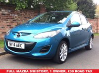 USED 2014 14 MAZDA 2 1.3 TAMURA 5d 83 BHP NEW ARRIVAL, 1 OWNER, £30 ROAD TAX, 1YT MOT, FULL MAZDA SERVICE HISTORY, EXCELLENT CONDITION,  AIR CON,  E/WINDOWS, R/LOCKING, FREE  WARRANTY, FINANCE AVAILABLE, HPI CLEAR, PART EXCHANGE WELCOME,