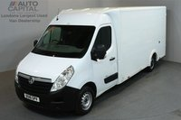 USED 2016 16 VAUXHALL MOVANO 2.3 F3500 136 BHP L3 LWB LUTON VAN  ONE OWNER FROM NEW, MOT TILL 5/05/2019