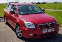 2003 TOYOTA AVENSIS 1.8 T3-X VVT-I 5d AUTO 127 BHP £1995.00