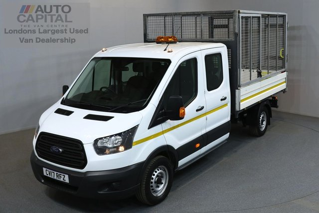 2017 17 FORD TRANSIT 2.0 350 129 BHP L3 LWB E6 7SEATER TIPPER  ONE OWNER FROM NEW, MANUFACTURE WARRANTY UNTIL 6/04/2020