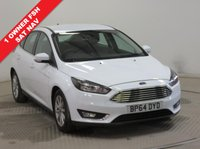 USED 2015 64 FORD FOCUS 1.6 TITANIUM 5d AUTO 124 BHP NAVIGATION ***1 Owner, Full Service History, serviced in January 2016 at 7551 miles, January 2017 at 14,697 miles, December 2017 at 19,852 miles. MOT until December 2018. Touch Sat Nav, Parking Sensors, Electrically heated Front and Rear Windscreen,Bluetooth, Air Conditioning.2 Keys. Free RAC Warranty and Free RAC Breakdown Cover.***