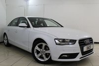 USED 2015 15 AUDI A4 2.0 TDI ULTRA SE TECHNIK 4DR 161 BHP FULL AUDI SERVICE HISTORY + LEATHER SEATS + BLUETOOTH + PARKING SENSOR + CRUISE CONTROL + MULTI FUNCTION WHEEL + CLIMATE CONTROL + 18 INCH ALLOY WHEELS
