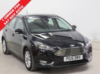 USED 2015 15 FORD FOCUS 1.6 TITANIUM 5d AUTO 124 BHP NAVIGATION ***1 Owner, Full Service History, serviced in April 2016 at 10,377 miles, April 2017 at 22,252 miles and May 2018 at 33,182 miles. MOT until March 2019. AUTO, Sat Nav, Air Conditioning, Bluetooth, 2 Keys, Free RAC Warranty, Free RAC Breakdown Cover***