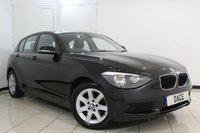 USED 2014 14 BMW 1 SERIES 2.0 116D ES 5DR 114 BHP SERVICE HISTORY + DAB RADIO + AIR CONDITIONING + AUXILIARY PORT + ELECTRIC WINDOWS + 16 INCH ALLOY WHEELS