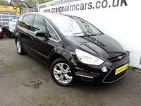 USED 2014 64 FORD S-MAX 2.0 TITANIUM TDCI 5d AUTO 161 BHP 7 Seater+Automatic+Privacy Glass+27000 Miles
