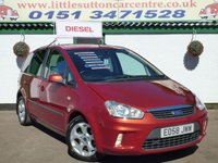 USED 2008 58 FORD C-MAX 1.8 ZETEC 5d 116 BHP 6 STAMP HISTORY, DIESEL,12 MONTHS MOT INCLUDED