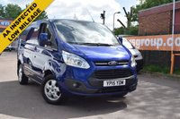 USED 2015 15 FORD TRANSIT CUSTOM 2.2 270 LIMITED LR P/V 1d 124 BHP A 2015 Ford Transit Custom 2.2tdci 125 LIMITED in a gorgeous blue metallic with only 28000 miles.