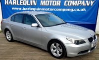 USED 2005 05 BMW 5 SERIES 2.5 i 525 SE 4D AUTOMATIC STUNNING EXAMPLE OF THIS 2005 BMW 525i SE AUTOMATIC 4 DOOR IN METALLIC SILVER WITH CONTRASTING GREY ELECTRIC SPORTS LEATHER INTERIOR ELECTRIC REAR BLIND ALLOYS FULL SERVICE HISTORY MUST BE SEEN