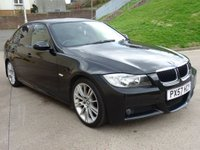 USED 2008 57 BMW 3 SERIES 2.0 320D M SPORT 4d 174 BHP FULL LEATHER TRIM +  PRIVACY GLASS +   18 INCH ALLOYS +  SERVICE RECORD +  MOT FEB 2019 +
