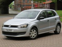USED 2012 12 VOLKSWAGEN POLO 1.2 S A/C 5d 70 BHP