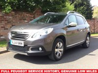 USED 2014 14 PEUGEOT 2008 1.2 ALLURE 5d 82 BHP FULL SERVICE HISTORY, 30 ROAD TAX, MOT MAR 19,  EXCELLENT CONDITION, ALLOYS, AIR CON, CRUISE, BLUETOOTH, PARKING AID, FOGS, RADIO CD, E/WINDOWS, R/LOCKING, FREE WARRANTY, FINANCE AVAILABLE, HPI CLEAR, PART EXCHANGE WELCOME,