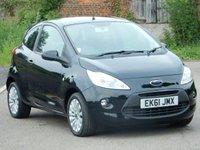 2011 FORD KA 1.2 ZETEC 3d 69 BHP £4495.00