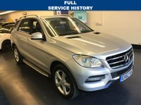 USED 2012 62 MERCEDES-BENZ M CLASS 3.0 ML350 BLUETEC SPECIAL EDITION 5d AUTO 258 BHP FULL MERCEDES SERVICE HISTORY , COMMAND, FULL LEATHER