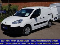2014 PEUGEOT PARTNER 3 SEAT PROFESSIONAL ONLY 11,000 MILES £6995.00