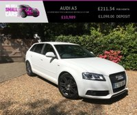 USED 2010 10 AUDI A3 2.0 SPORTBACK TFSI S LINE SPORT EDITION 5d 197 BHP 2 OWNER FULL SERVICE LOW MILES 2 TONE FULL LEATHER 18 INCH ALLOYS