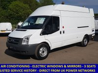 2008 FORD TRANSIT 350 LWB HIGH ROOF WITH AIR CON FROM UK POWER NETWORKS £5495.00