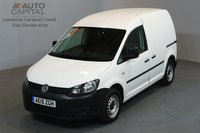 USED 2015 15 VOLKSWAGEN CADDY 1.6 C20 TDI STARTLINE BLUEMOTION 101 BHP SWB ONE OWNER FROM NEW