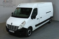 USED 2014 14 RENAULT MASTER 2.3 LM35 125 BHP L3 H2 LWB MEDIUM ROOF  ONE OWNER FROM NEW, MOT UNTIL 25/06/2019