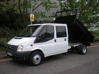 USED 2013 63 FORD TRANSIT 2.2 350 DRW 1d 99 BHP CREW CAB TIPPER