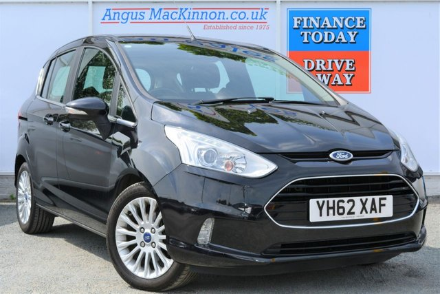 2012 62 FORD B-MAX 1.0 TITANIUM 5d Family MPV with Low Road Tax and High 57mpg