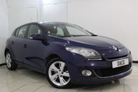 USED 2013 13 RENAULT MEGANE 1.5 DYNAMIQUE TOMTOM ENERGY DCI S/S 5DR 110 BHP SERVICE HISTORY + SAT NAVIGATION + BLUETOOTH + CRUISE CONTROL + MULTI FUNCTION WHEEL + AIR CONDITIONING + 16 INCH ALLOY WHEELS