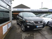 2011 LEXUS RX 3.5 450H ADVANCE PAN ROOF 5d 295 BHP £18999.00