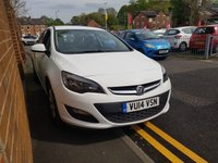 USED 2014 14 VAUXHALL ASTRA 1.7 DESIGN CDTI ECOFLEX S/S 5d 110 BHP CHEAP TO RUN , EXCELLENT FUEL ECONOMY AND ONLY £30 ROAD TAX!..GOOD SPECIFICATION INCLUDING AIR CONDITIONING, ALLOY WHEELS, AND FULL HISTORY(2 SERVICES AT MAIN DEALERS). ONLY DONE 14946 MILES FROM NEW!!