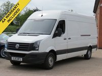 USED 2015 15 VOLKSWAGEN CRAFTER 2.0 CR35 TDI H/R P/V 1d 135 BHP NO VAT TO PAY, 3 MONTHS AA WARRANTY INCLUDED