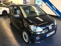 USED 2012 62 VOLKSWAGEN UP 1.0 UP BLACK 3d 74 BHP 1 PREVIOUS OWNER, FULL SERVICE HISTORY