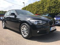 2014 BMW 1 SERIES 1.6 116D EFFICIENTDYNAMICS BUSINESS 5d SAT NAV AND LEATHER  £10500.00