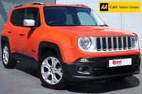 USED 2016 65 JEEP RENEGADE 1.6 M-JET LIMITED 5d 118 BHP NAV + HEATED LEATHER + FSH