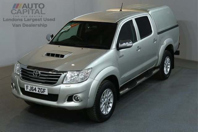 2014 64 TOYOTA HI-LUX 3.0 INVINCIBLE 4X4 169 BHP AUTO A/C SAT NAV LEATHER SEAT