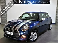 USED 2014 64 MINI HATCH ONE 1.5 ONE D 3dr Pepper PK, Media XL Pack New Shape, £0 Tax, HUGE Spec!!,  Mirror Chrome Stripes & Spoiler