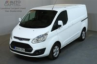 USED 2015 65 FORD TRANSIT CUSTOM 2.2 270 LIMITED 124 BHP L1 H1 SWB LOW ROOF A/C NO VAT  4 OWNER FROM NEW, MOT UNTIL 03/07/2019
