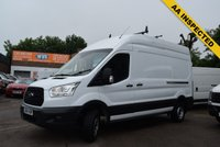 USED 2014 64 FORD TRANSIT 2.2 350 SHR P/V 1d 124 BHP Just £8999 + vat for this AA inspected December 2014 Ford Transit 350 2.2tdci 125 LWB High Roof in white with service history and 2 keys.