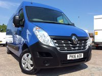 2016 RENAULT MASTER LWB 2.3 LM35 BUSINESS PLUS ENERGY DCI S/R 135 BHP 1 OWNER FSH AIR CON SAT NAV £11500.00